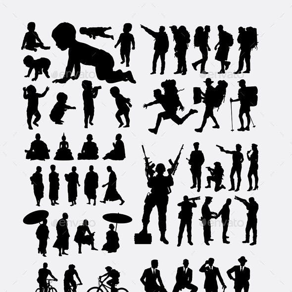 Profession and Activity Silhouettes