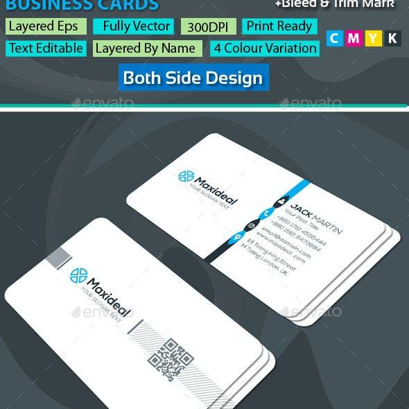 Corporate 002 Busine Corporate Business Cards