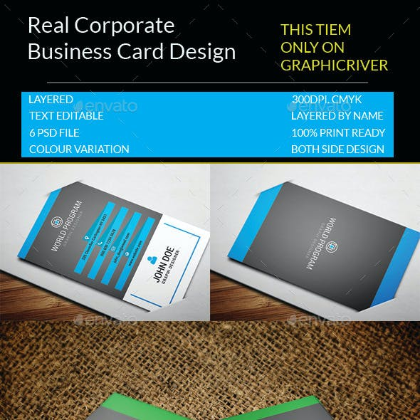 Real Corporate Business Card.113