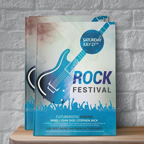 Rock Festival Event Flyer