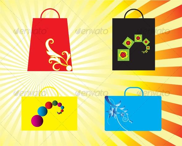 Shopping Bag - Decorative Symbols Decorative
