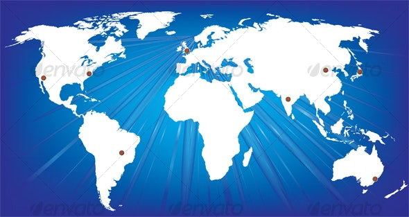 World map - Backgrounds Decorative