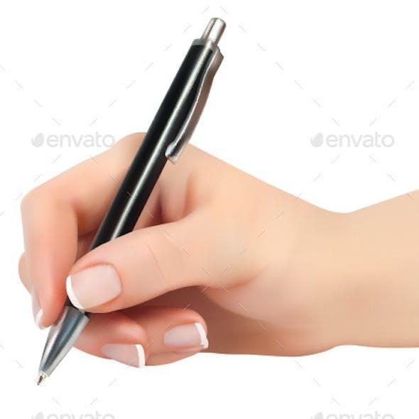 Hand Holding Pen