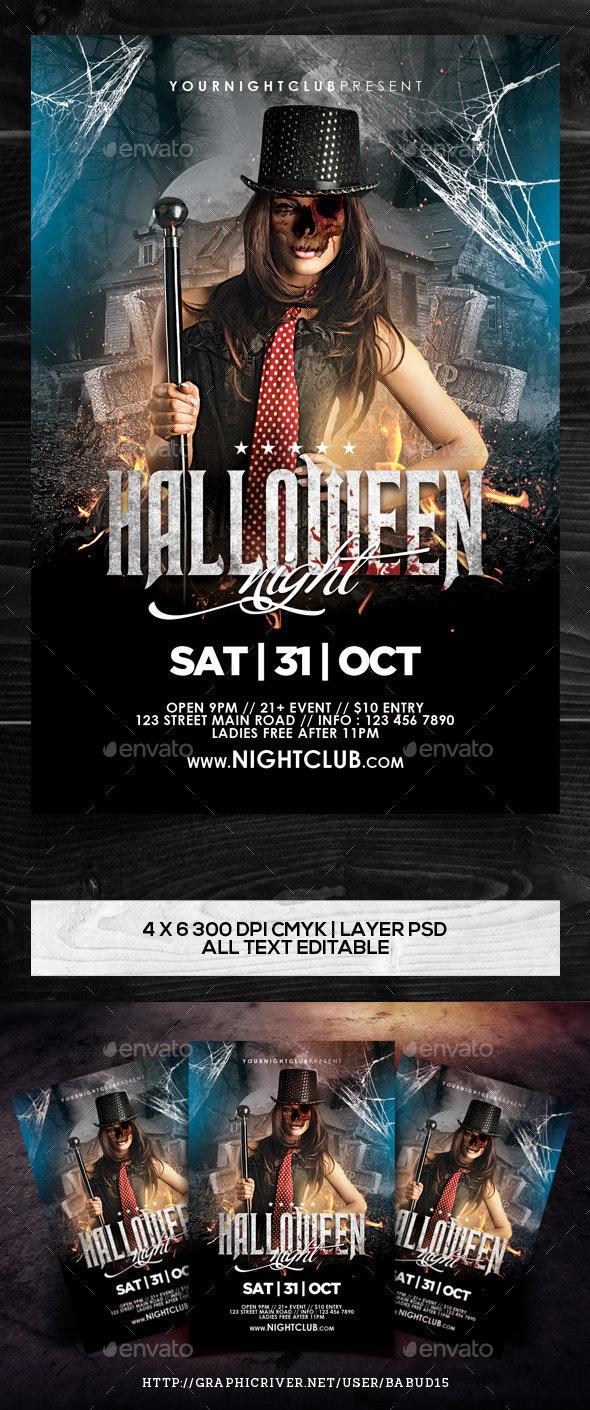 Halloween Night Flyer Template - Events Flyers