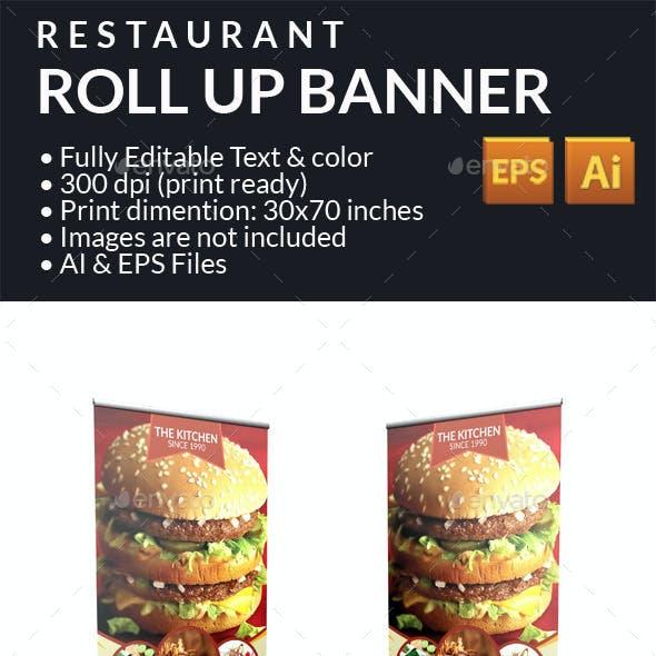 Restaurant Food Roll Up Banner