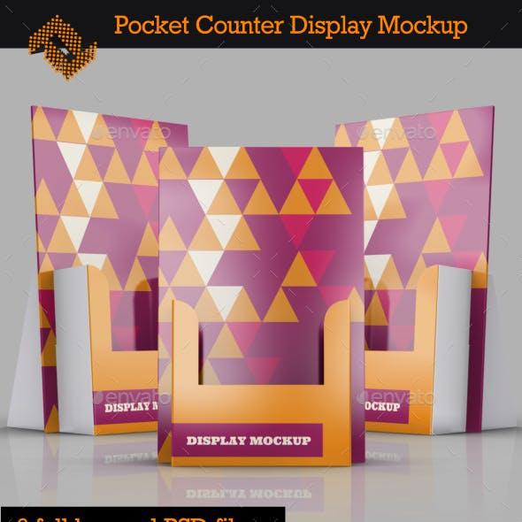 Pocket Counter Display Mockup Vol. 2