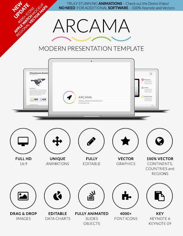 Arcama - Keynote Presentation Template - Creative Keynote Templates