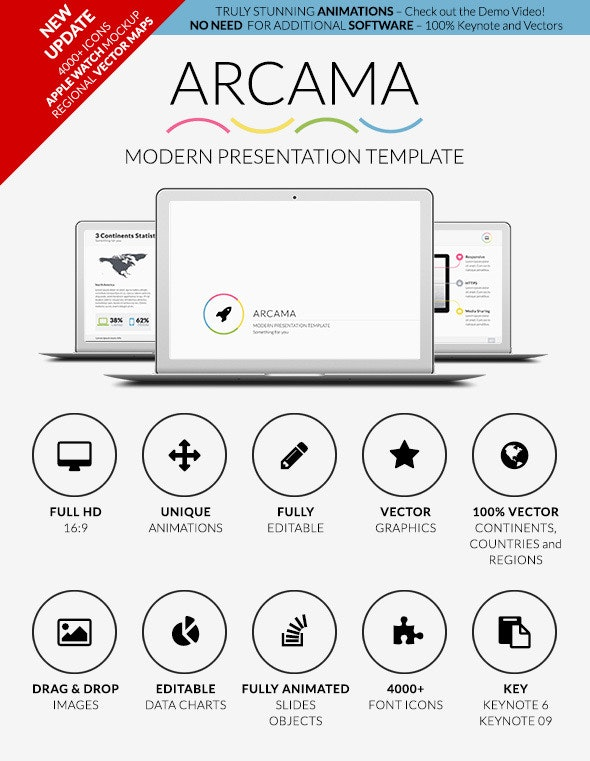 Arcama - Keynote Presentation Template - Creative Keynote Templates