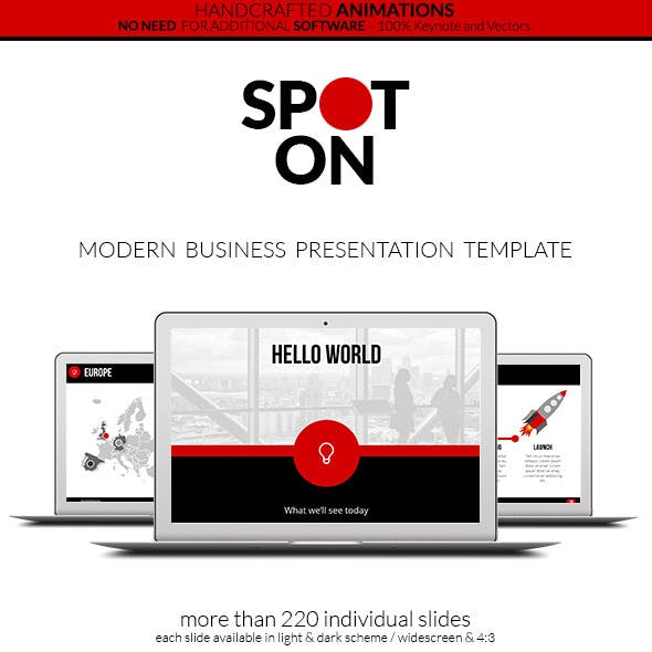 Spot On - Keynote Presentation Template