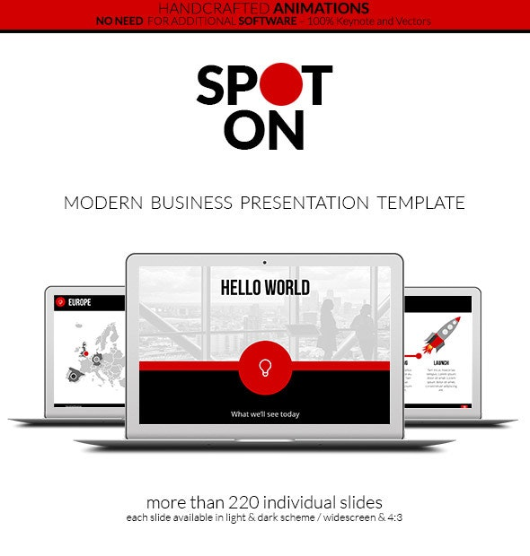 Spot On - Keynote Presentation Template - Creative Keynote Templates