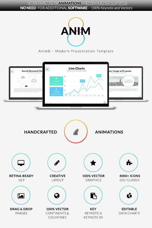 Anim8 – Keynote Presentation Template - Creative Keynote Templates