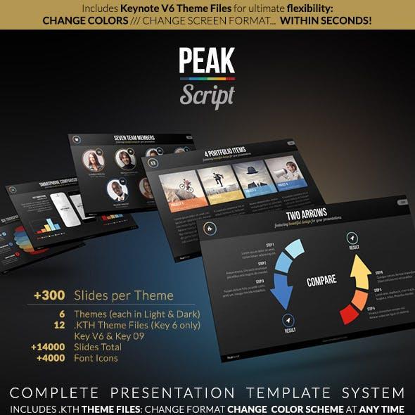 PEAK Script - Complete Keynote Presentation System
