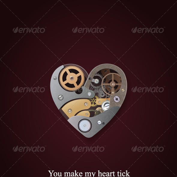 Mechanical heart valentine