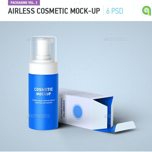 Airless Cosmetic Mock-Up