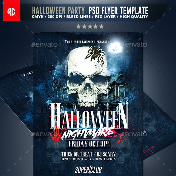 Halloween Party | Psd Flyer Template
