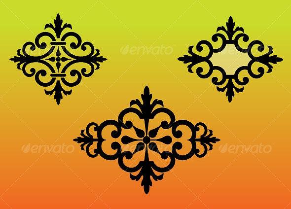 3 Elegant Ornament Shapes - Miscellaneous Vectors