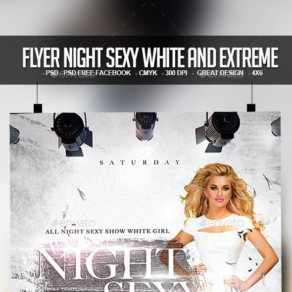 Flyer Night Sexy White and Extreme