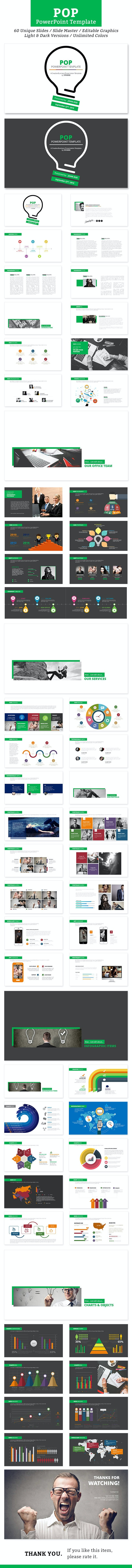 Pop PowerPoint Template - Business PowerPoint Templates