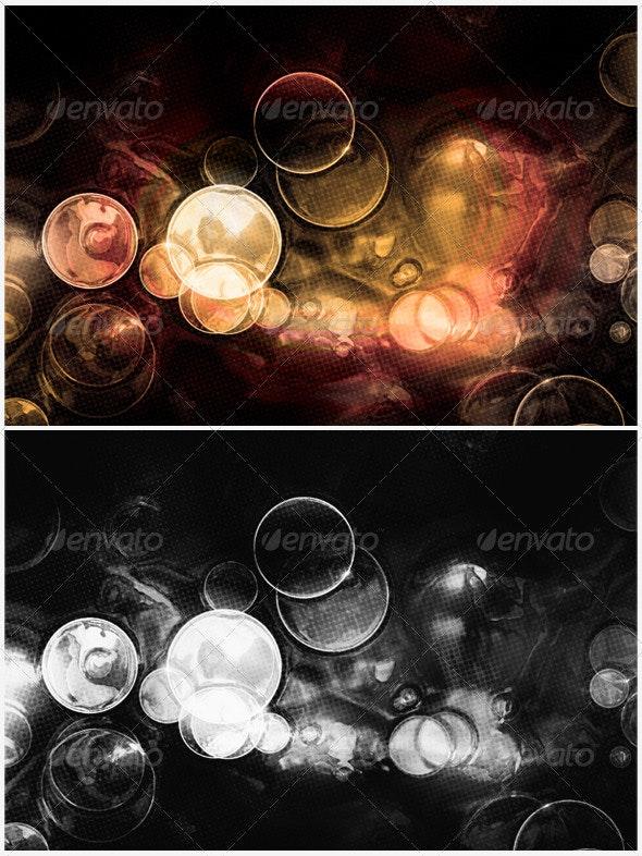 Golden Drink Bubbles Background - Backgrounds Graphics