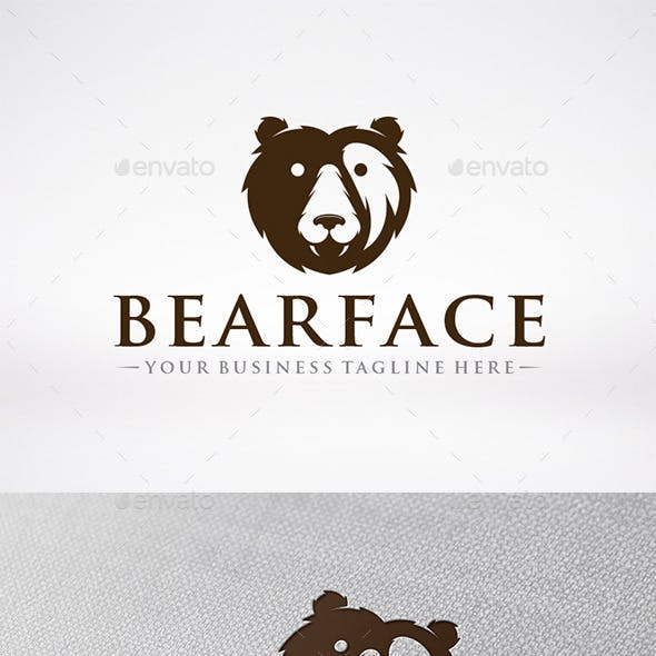 Bear Face Logo Template