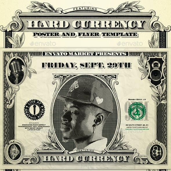 Hard Currency Poster and Flyer Template