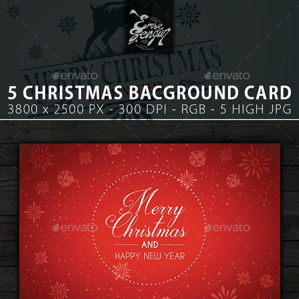 Merry Christmas Card & Backgrounds Vol.2