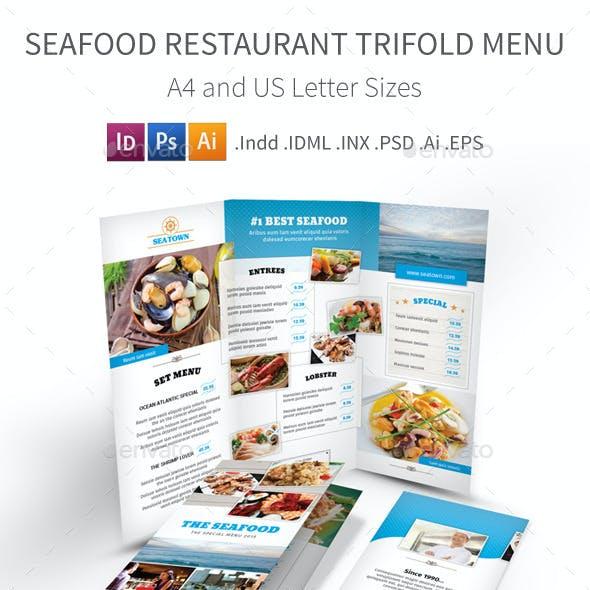 Seafood Restaurant Trifold Menu