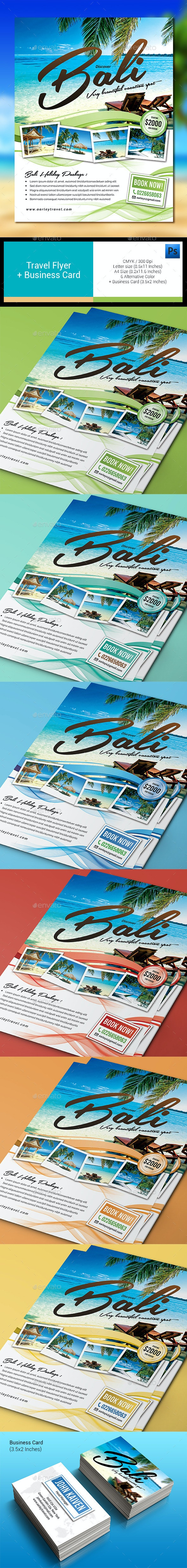 Travel Flyer + Business Card - Holidays Events