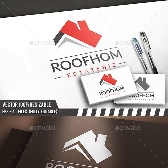 Real Estate Roof Logo
