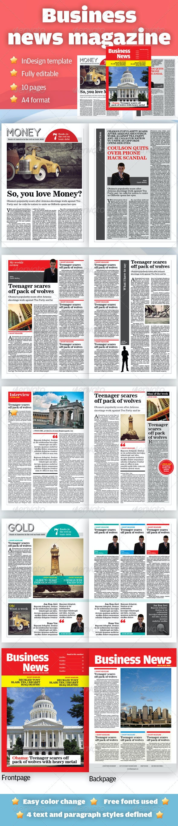 Business News Magazine - Magazines Print Templates