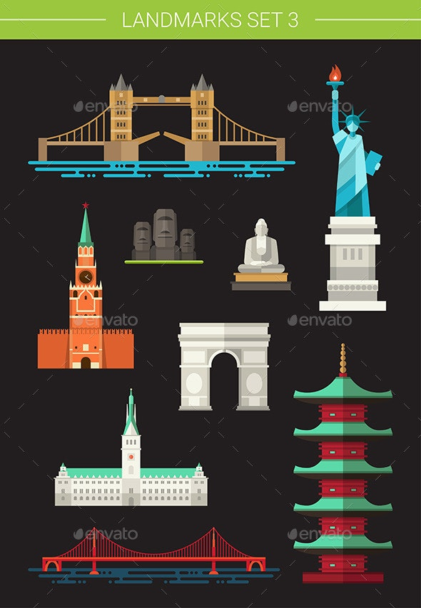 Landmarks  - Travel Conceptual