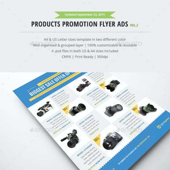 Product Promotion Flyer Ads Vol.2