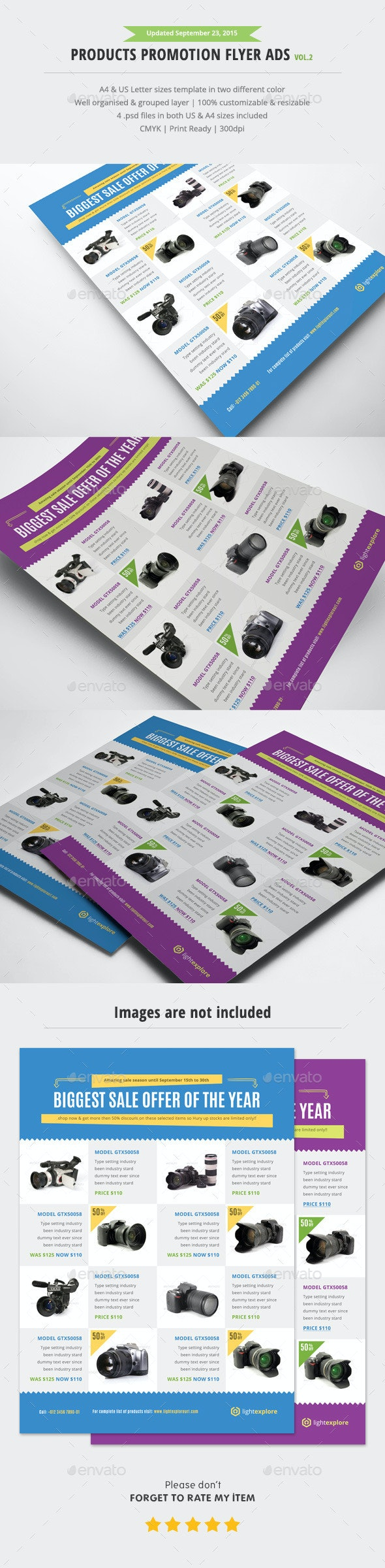 Product Promotion Flyer Ads Vol.2 - Commerce Flyers