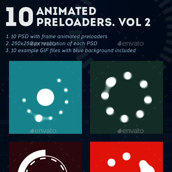 10 Animated Preloaders. Vol. 2
