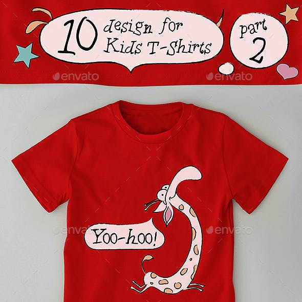 10 Kids Boys and Girls T-Shirts Design Part 2