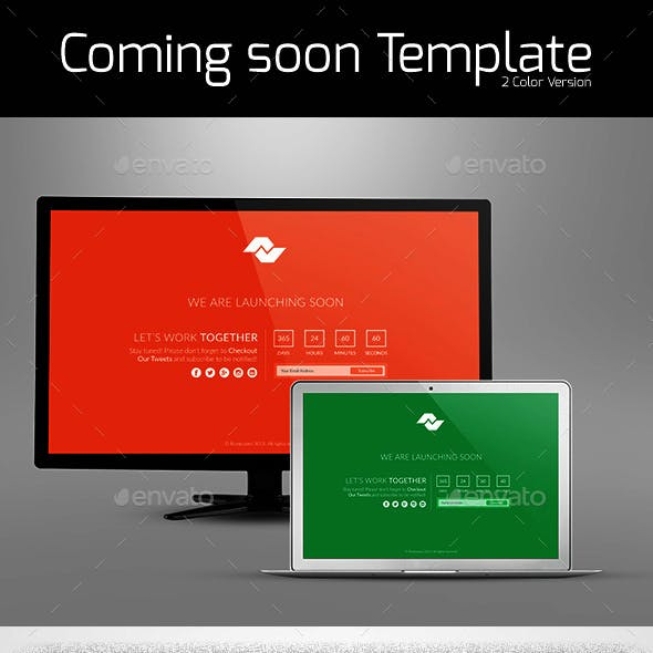 Flat Design Comingsoon Page