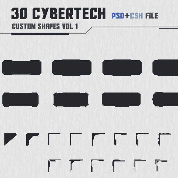 30 Cybertech Shapes Vol. 1