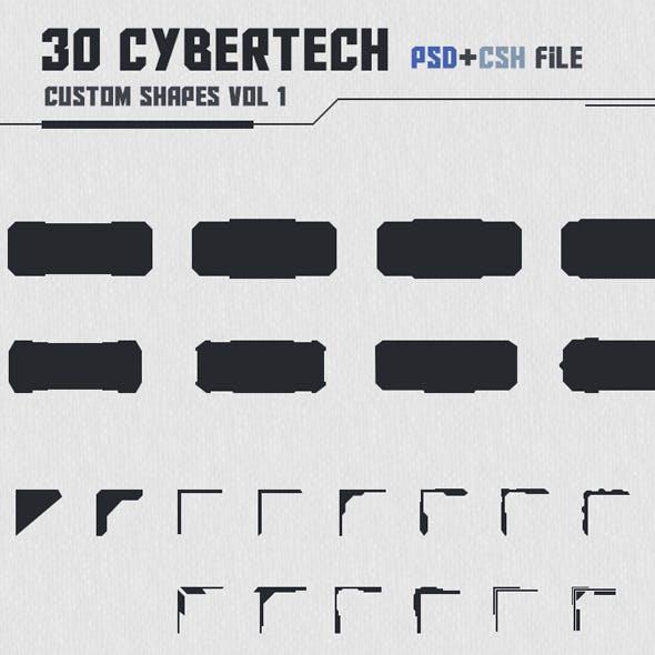 30 Cybertech Shapes Vol. 1