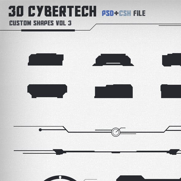 30 Cybertech Shapes Vol. 3