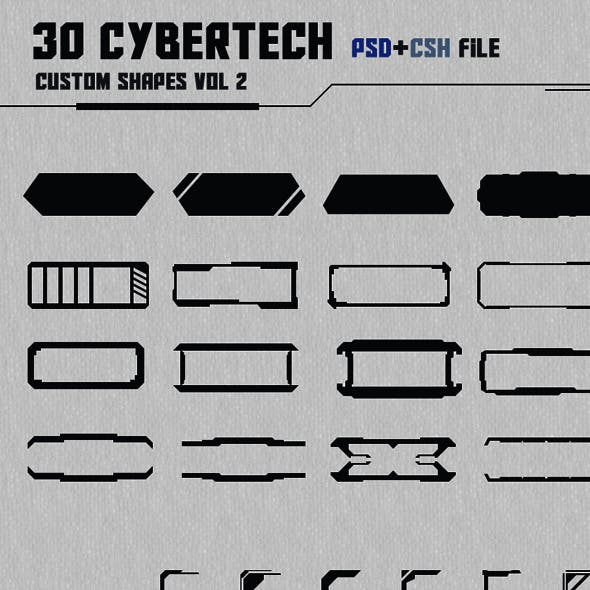 30 Cybertech Shapes Vol. 2