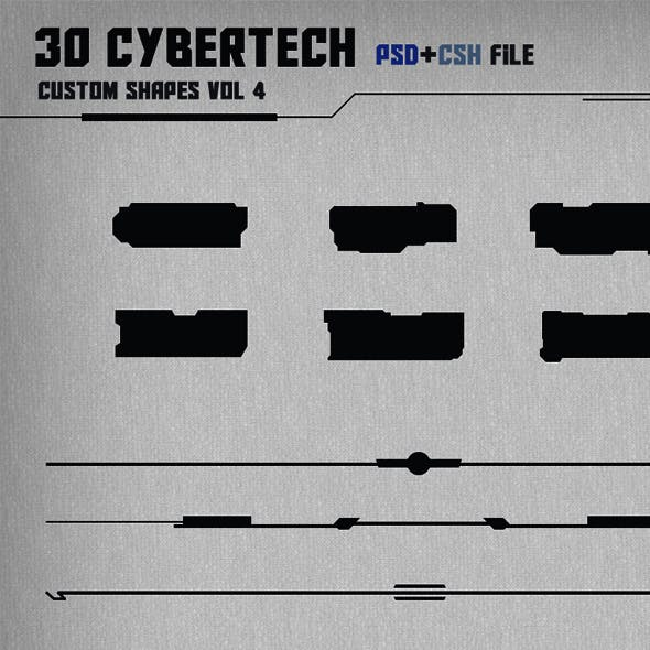 30 Cybertech Shapes Vol. 4