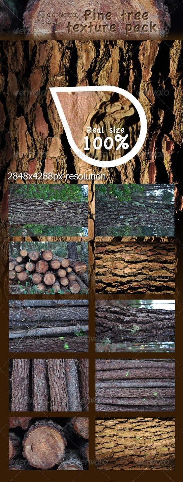 Pine tree textures pack - Wood Textures