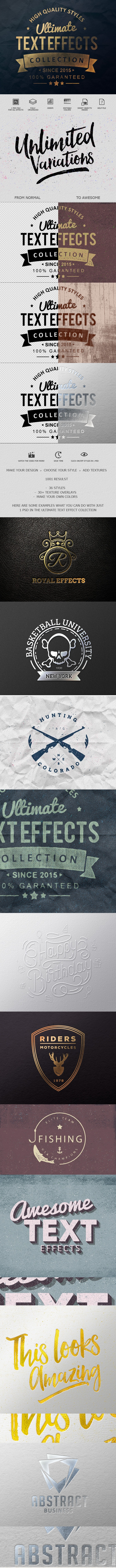 Ultimate Text Effect Collection - Text Effects Styles