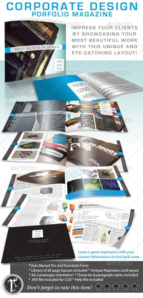 Corporate Design Portfolio Magazine - Magazines Print Templates