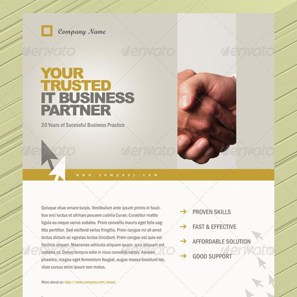 Corporate Style Flyer/Magazine Ads Template