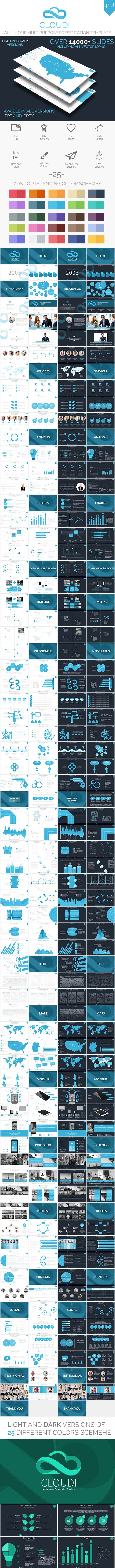 Cloudi - All in One Multipurpose Presentation - Business PowerPoint Templates