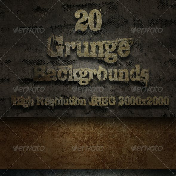 20 Grunge Backgrounds - Pack One