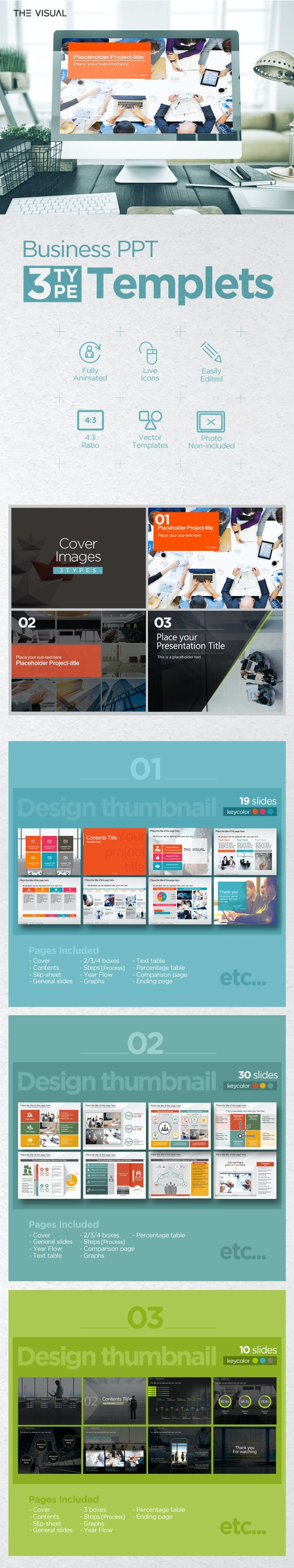 THE VISUAL_POWERPOINT 01 - Business PowerPoint Templates