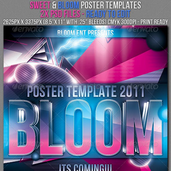 Bloom & Sweet Poster Templates