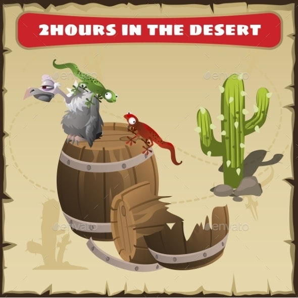 Two Hours In The Desert. A Funny Scene  - Landscapes Nature